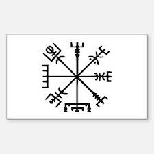 Viking Compass : Vegvisir Sticker (Rectangle)