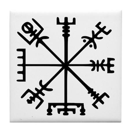 Viking Compass : Vegvisir Tile Coaster