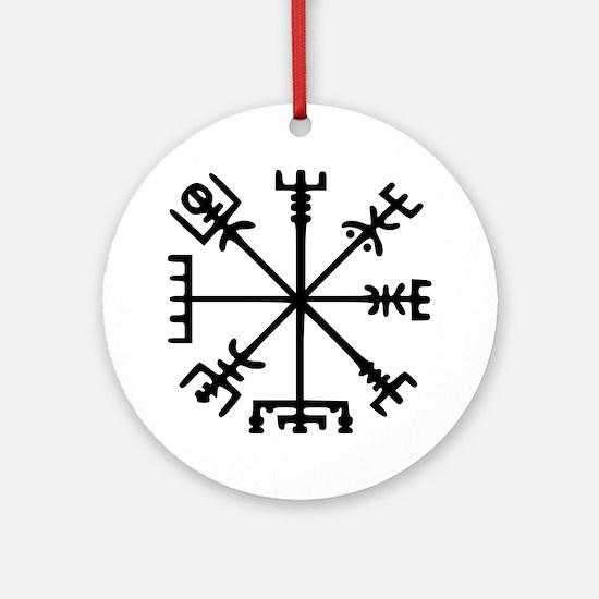 Viking Compass : Vegvisir Ornament (Round)