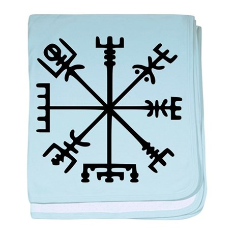 Viking Compass : Vegvisir baby blanket