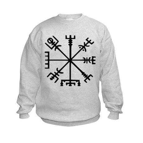 Viking Compass : Vegvisir Kids Sweatshirt
