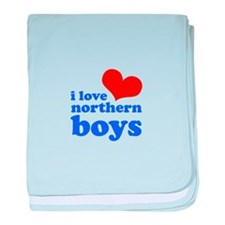 i love northern boys (heart, baby blanket