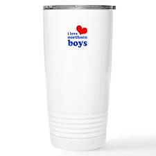 i love northern boys (heart, Travel Mug