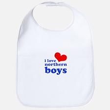 i love northern boys (heart, Bib