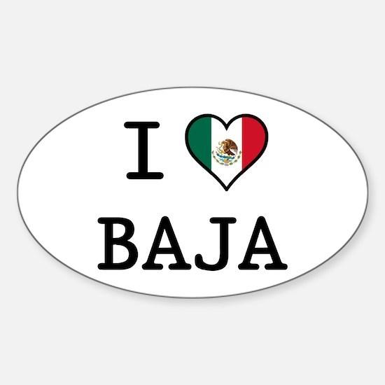 I Love Baja Sticker (Oval)