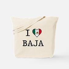 I Love Baja Tote Bag