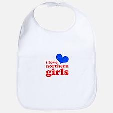 i love northern girls (heart, Bib