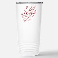 Red and White Sweep Time Travel Mug