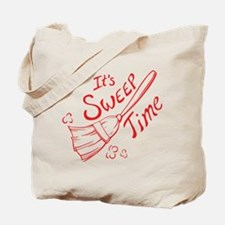 Red and White Sweep Time Tote Bag