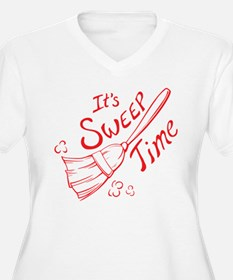 Red and White Sweep Time T-Shirt
