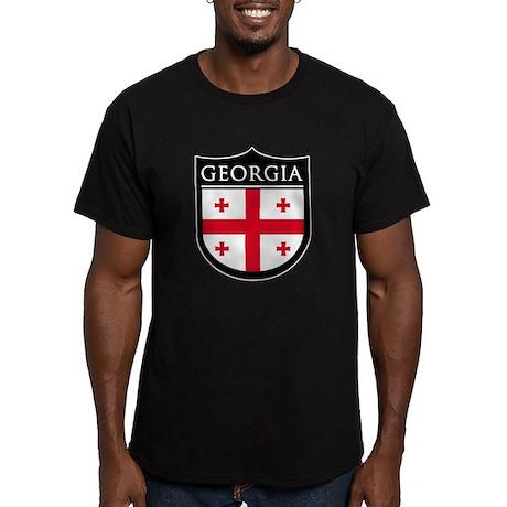 Georgia (Rep) Patch Men's Fitted T-Shirt (dark)