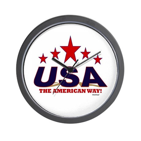 USA The American Way Wall Clock