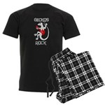 Geckos Rock Men's Dark Pajamas
