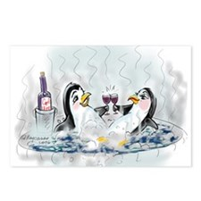 hOt tUb pEnGuInS Postcards (Package of 8)