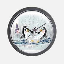 hOt tUb pEnGuInS Wall Clock