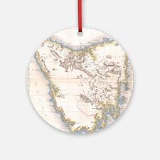 Vintage Map of Tasmania (1837) Round Ornament