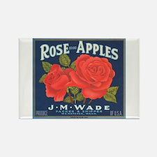 Rose Apples Rectangle Magnet