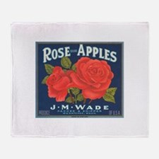 Rose Apples Throw Blanket