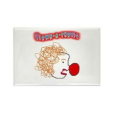 Clown -a- phobic Rectangle Magnet