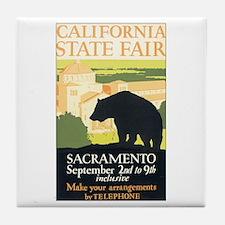 California Bear Tile Coaster