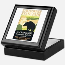 California Bear Keepsake Box