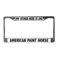 My Other Ride Is A Paint Horse License Plate Frame