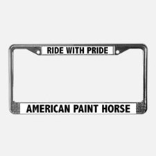 Ride With Pride Paint Horse License Plate Frame