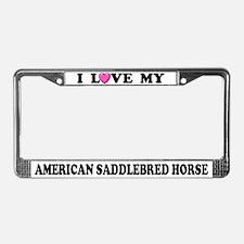 I Love My American Saddlebred Horse License Plate