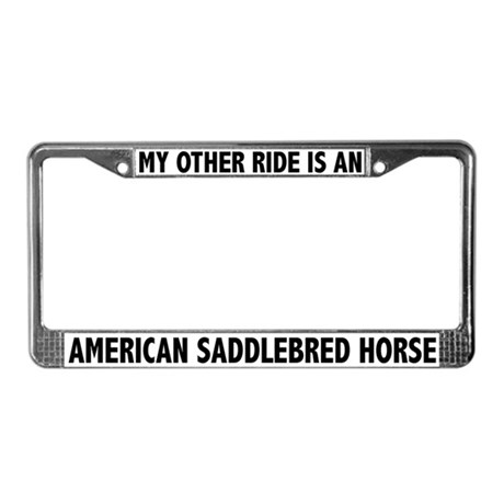 My Other Ride Is A Saddlebred Horse License Plate