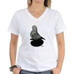 Splash Tumbler Pigeon Women's V-Neck T-Shirt