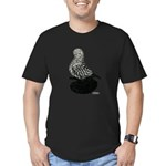 Splash Tumbler Pigeon Men's Fitted T-Shirt (dark)