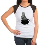Splash Tumbler Pigeon Women's Cap Sleeve T-Shirt