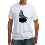 Splash Tumbler Pigeon Fitted T-Shirt