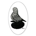 Splash Tumbler Pigeon Sticker (Oval 50 pk)