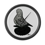 Splash Tumbler Pigeon Large Wall Clock