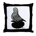 Splash Tumbler Pigeon Throw Pillow