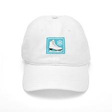 Turquoise Ice Skate Baseball Cap