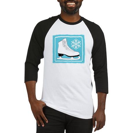 Turquoise Ice Skate Baseball Jersey