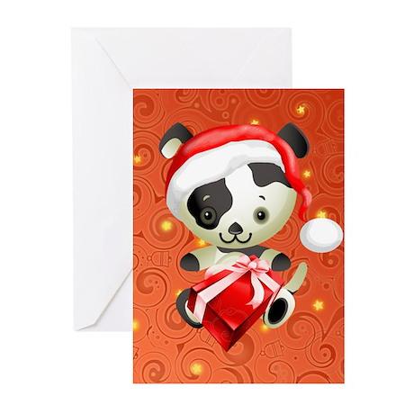 Christmas Santa Dog Greeting Cards (Pk of 10)