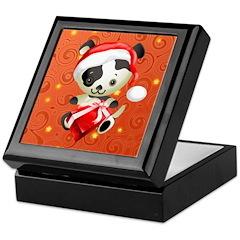 Christmas Santa Dog Keepsake Box