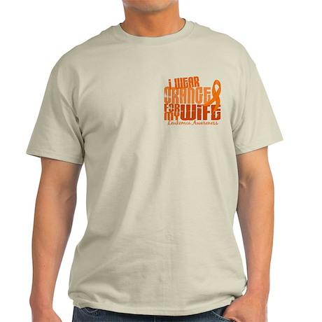 I Wear Orange 6.4 Leukemia Light T-Shirt