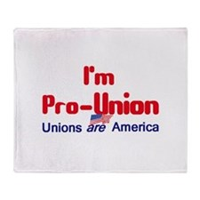 Pro Union Throw Blanket