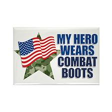 My hero wears combat boots Rectangle Magnet (100 p