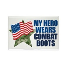 My hero wears combat boots Rectangle Magnet