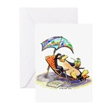 Funny penguin Greeting Cards (10 Pack)