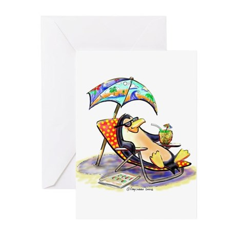 tRoPiCaL pEnGuIn Greeting Cards (Pk of 10)