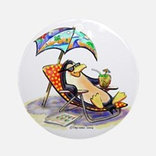 tRoPiCaL pEnGuIn Ornament (Round)