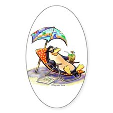 tRoPiCaL pEnGuIn Oval Decal