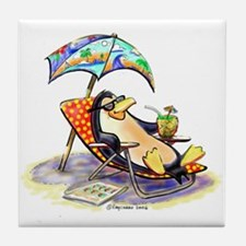 tRoPiCaL pEnGuIn Tile Coaster