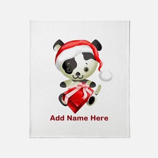 Christmas Santa Dog Throw Blanket